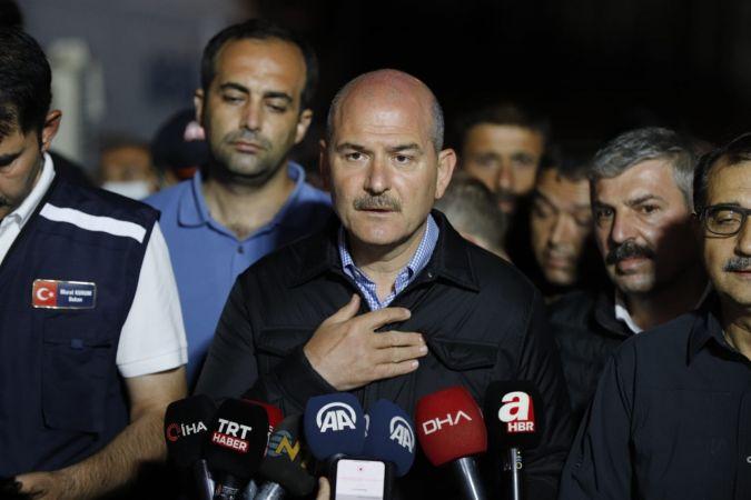 """İçişleri Bakanı Süleyman Soylu: """"Kastamonu'da 62, yaklaşık 14-15'te Sinop'ta kayıp ihbarı var"""""""