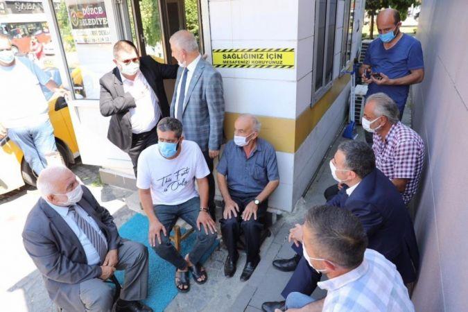Vali Atay'dan taksicilere sürpriz ziyaret