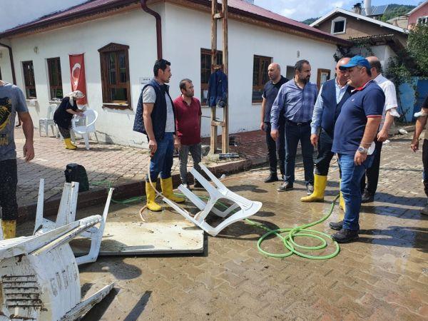 Başkan Fındıkoğlu, afet bölgesinde incelemelerde bulundu