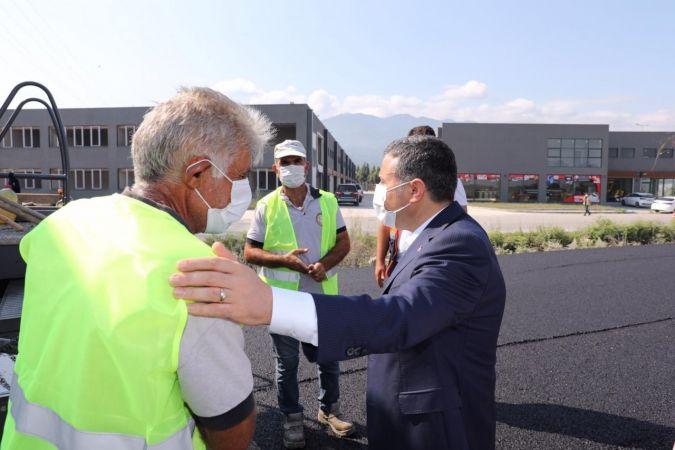 Sanayi bölgesinde asfaltlama başlatıldı