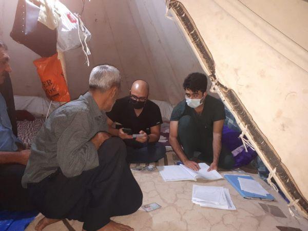 İşçiler çadırlarında aşı oldu