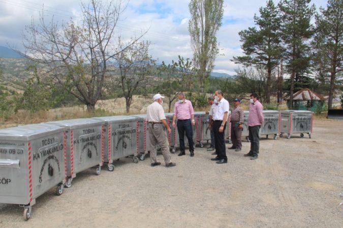 Tosya'da çöp konteyneri dağıtımı sürüyor
