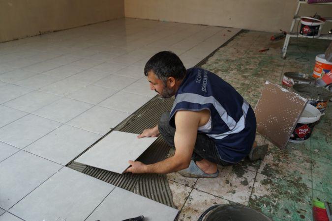 Sel afetinin yaşandığı Bozkurt'ta iş yerlerinin tadilat ve onarımlarına başlandı
