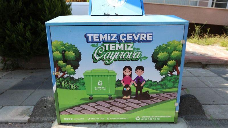 Kocaeli Haber - Çayırova'da çöp konteynerleri koruganla kaplandı