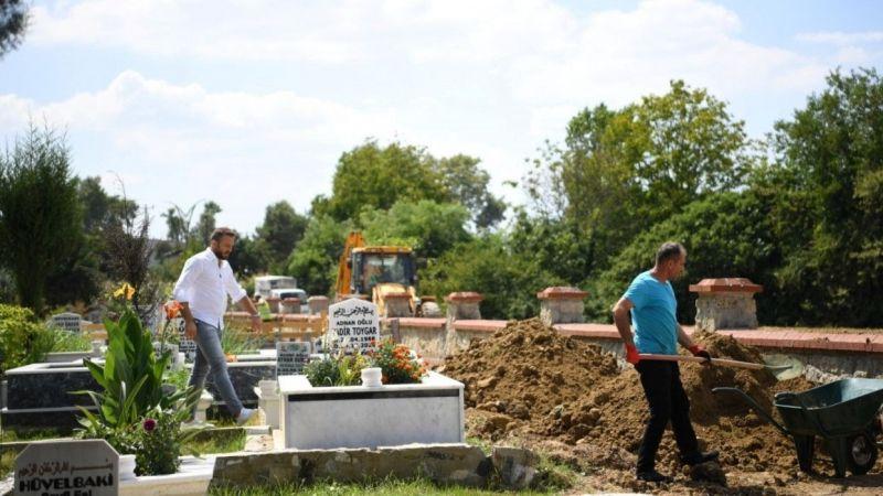 Kocaeli Haber -Kartepe'de mezarlıklara bakım yapıldı