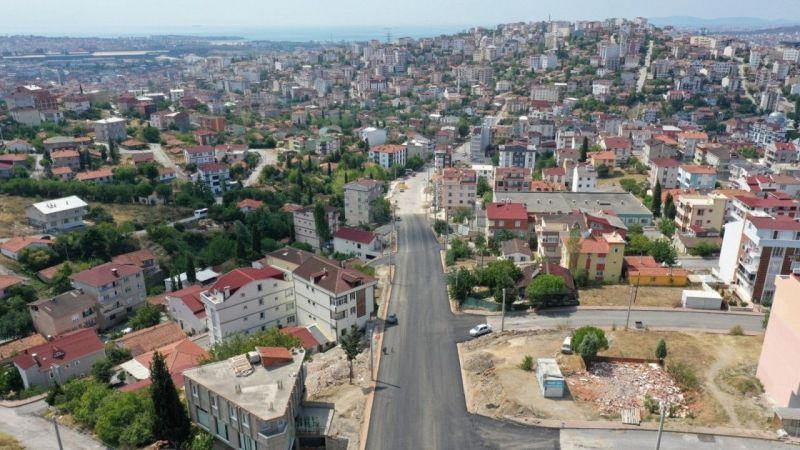 Kocaeli Haber -Gebze Fikri Altıokka Caddesi'nde üstyapı çalışması