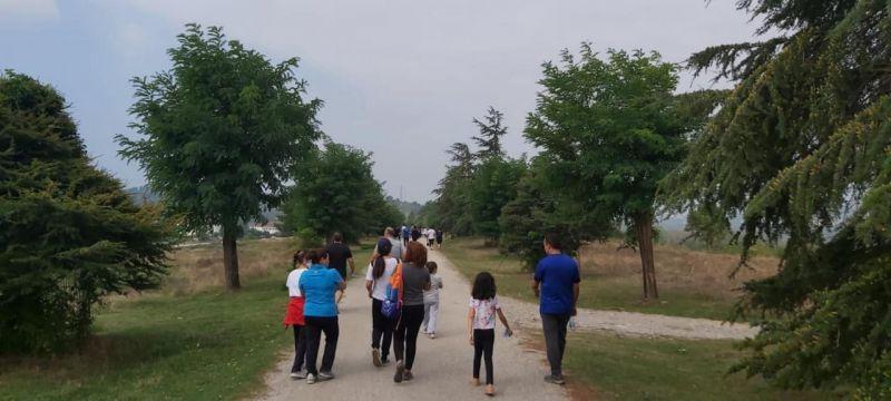Yüzlerce kişi doğa yürüyüşünde buluştu