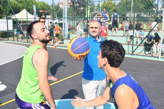 Çayırova'da sokak basketbolu heyecanı başladı