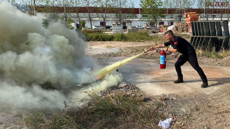 Kocaeli Haber - Kocaeli itfaiyesinden yangın eğitimleri