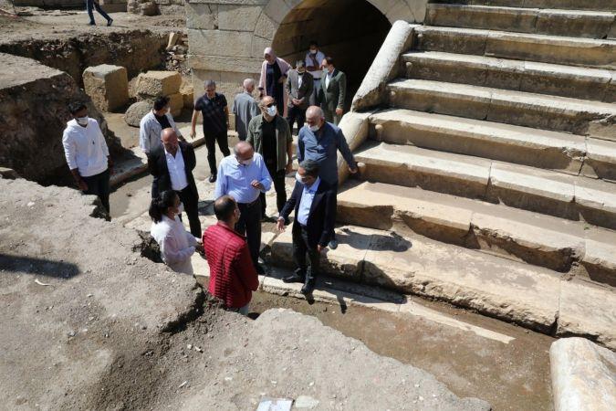 Antik kentte oturma alanları ortaya çıktı