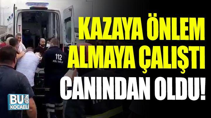 Kocaeli haber - Kazada önlem almaya çalışan karayolları görevlisi canından oldu
