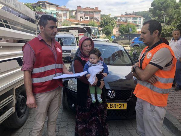 Selden etkilenen 548 aileye eşya yardımı yapıldı