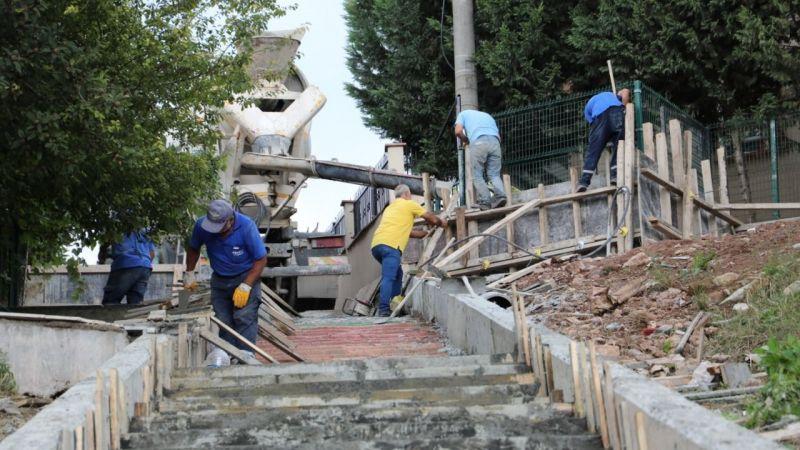 Kocaeli Haber - İzmit Belediyesi  Radar'da bir merdiveni daha yeniliyor