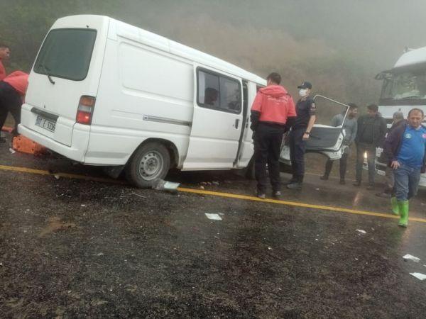 Selzedelere yardıma giden jandarma, kazada can kurtardı