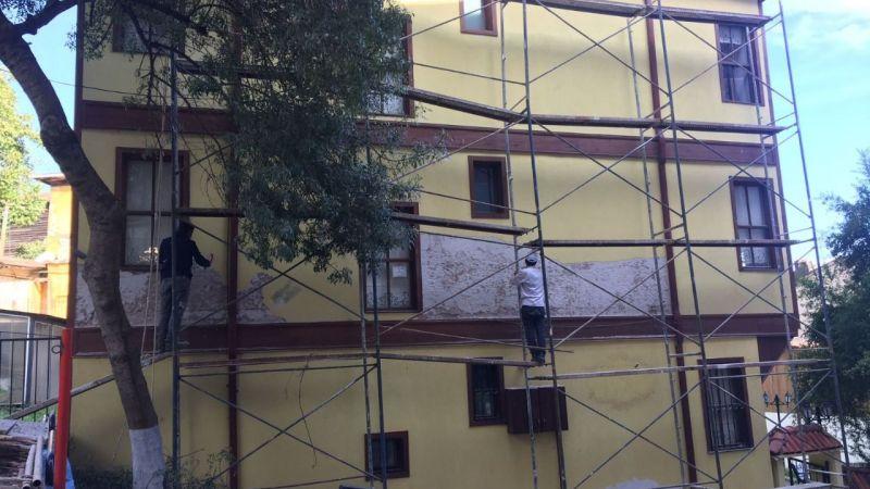 Kocaeli Haber - Tescilli Sirkeciler Konağı'nda dış cephe iyileştiriliyor