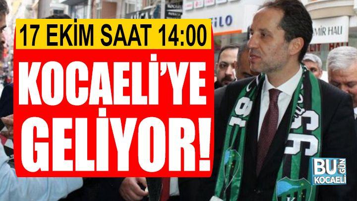 Fatih Erbakan Kocaeli'ye Geliyor!