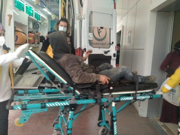 İhsaniye'de Motor kazası; 1 kişi yaralandı
