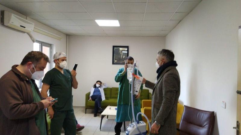 Hastanede oksijen cihazı eğitimi verildi