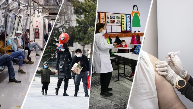 Koronavirüs mücadelesinde  maskeli 1 yıl
