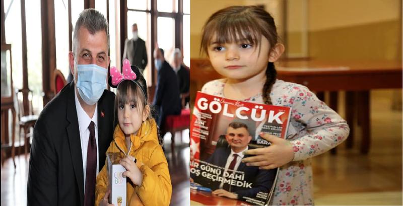 Dergide resmini gördüğü Başkanla tanıştı