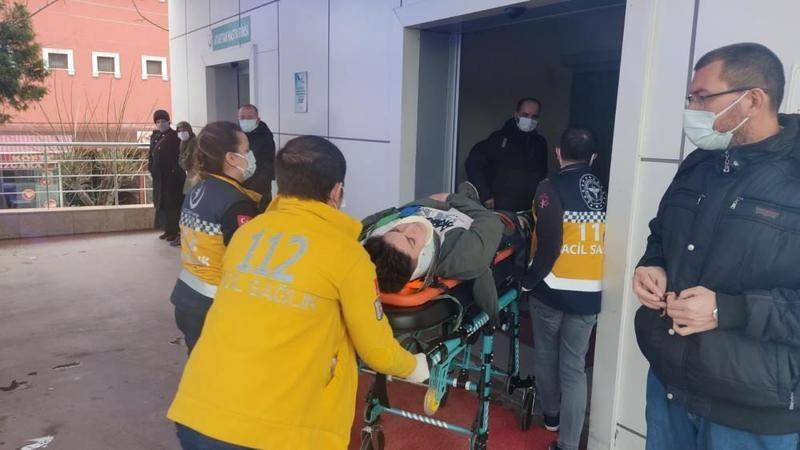 Gölcük'te  ATV motor ile otomobil kafa kafaya çarpıştı: 2 yaralı