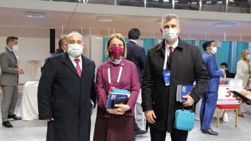 Başkanlar, Emine Zeybek Sarı'yı kutladılar