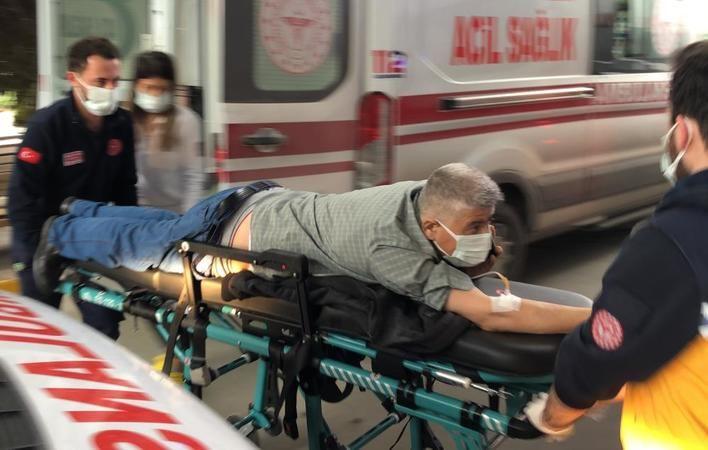 Caddede yürürken kurşunların isabet ettiği iki vatandaş hastanelik oldu