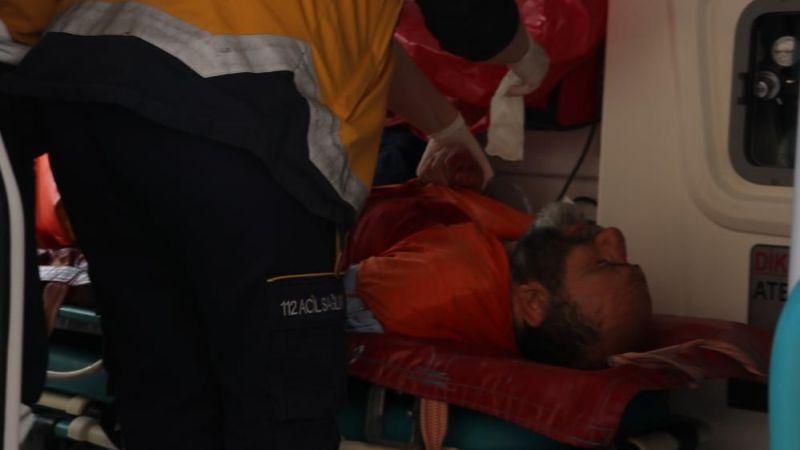 Kolunu spiral makinesine kaptıran vatandaşı itfaiye ekipleri kurtardı