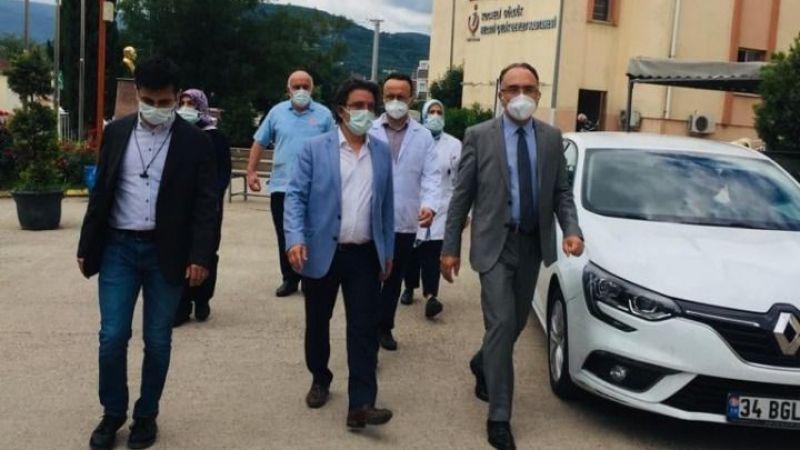Kaymakam Karabulut hastaneyi ziyaret etti