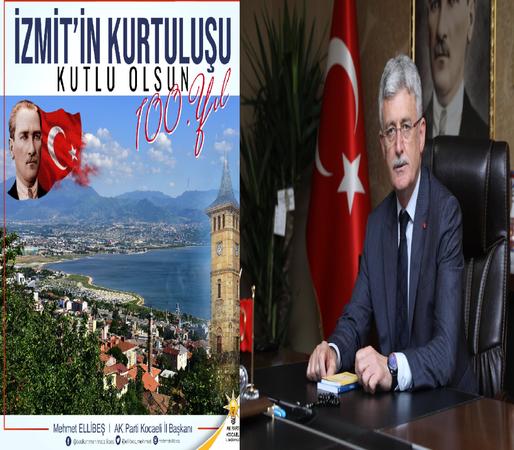Başkan Ellibeş, İzmit'in düşman işgalinden kurtuluşunun 100.yılını kutladı