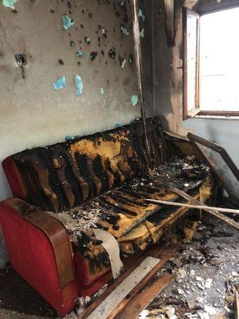 Gölcük'te ev yandı