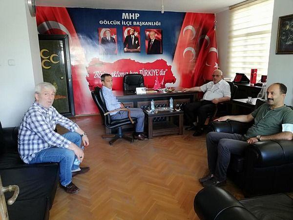 Gölcük MHP'ye Başkan ziyareti