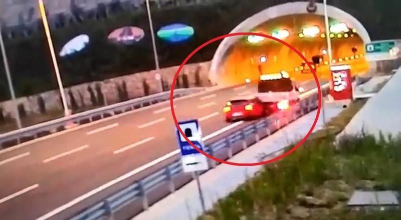 Kuzey Marmara Otoyolu'ndaki feci kaza kamerada