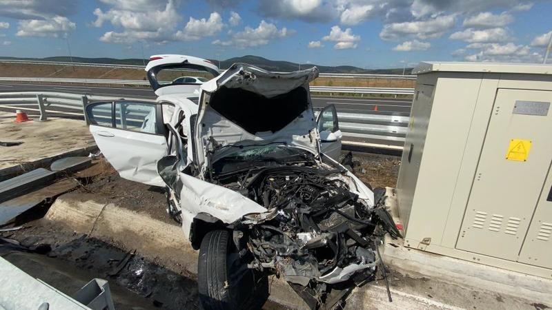 Kuzey Marmara Otoyolu'nda feci kaza: 1 ölü, 2 yaralı