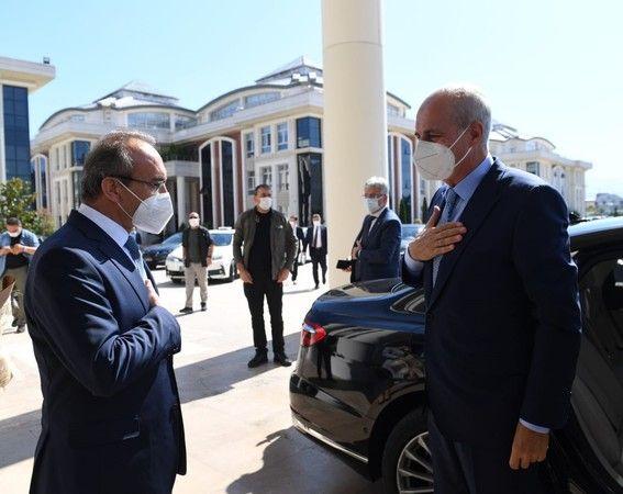 Kurtulmuş Vali Yavuz'u ziyaret etti