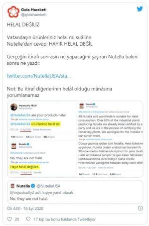 Nutella itiraf etti: Helal değiliz!