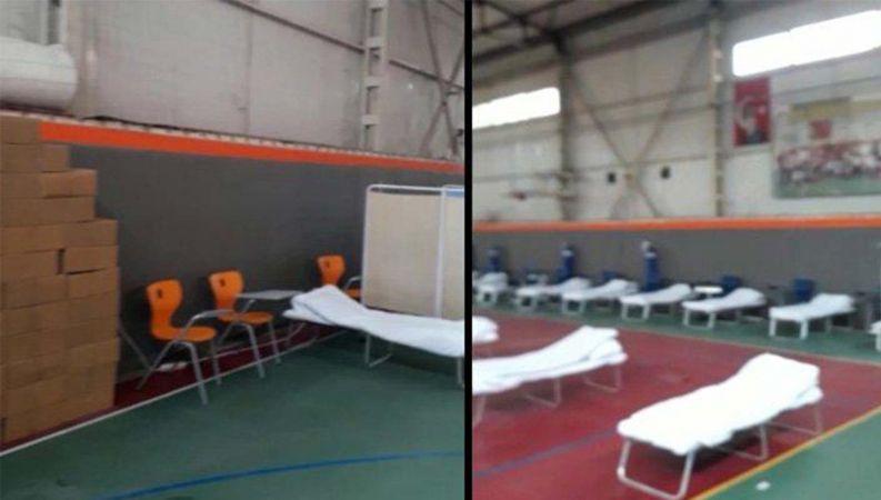 Yine Sözcü yine yalan! Spor salonunun hastaneye çevrileceği İzmir Valiliğince yalanlandı