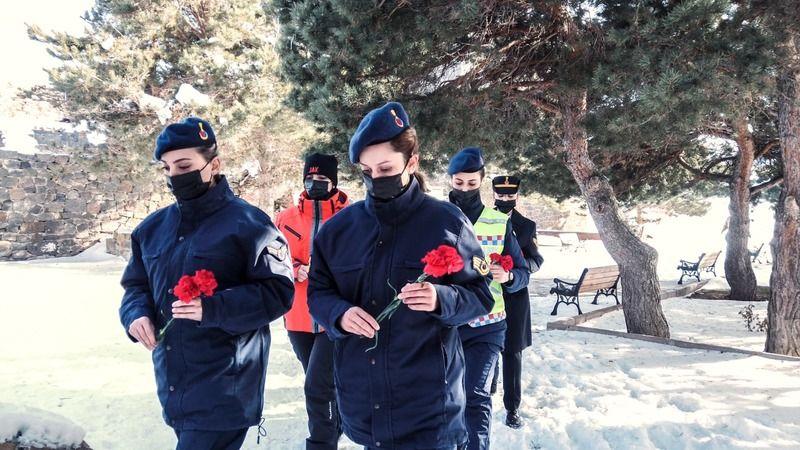 Kadın jandarmalardan tarihe geçen kahraman Nene Hatun'a ziyaret