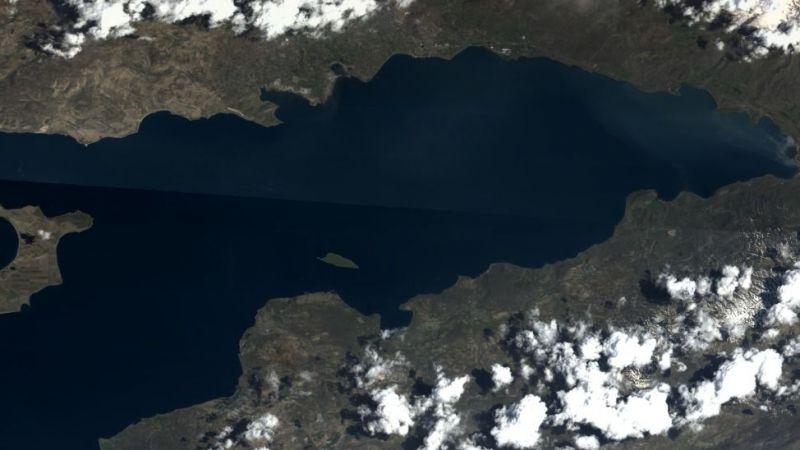 MSB, Van Gölü'nün Göktürk uydusu tarafından çekilen fotoğrafını paylaştı