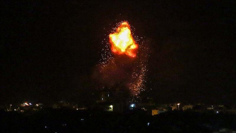 İşgalci İsrail uçakları, Gazze Şeridi'ne hava saldırısı düzenledi!