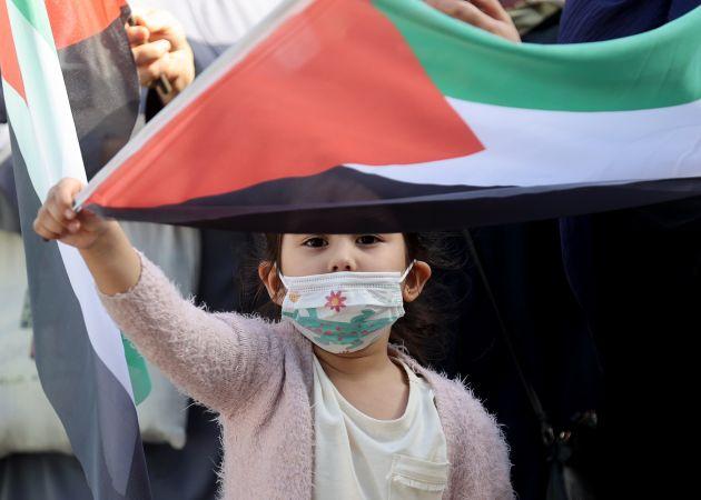 Kağıthane'de işgalci İsrail'e protesto