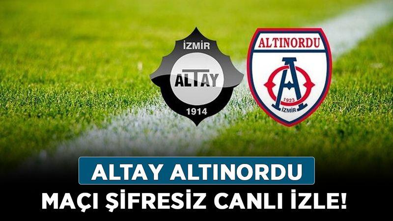 Altay Altınordu maçı şifresiz canlı izle! Altay Altınordu canlı yayını kesintisiz ücretsiz izle!