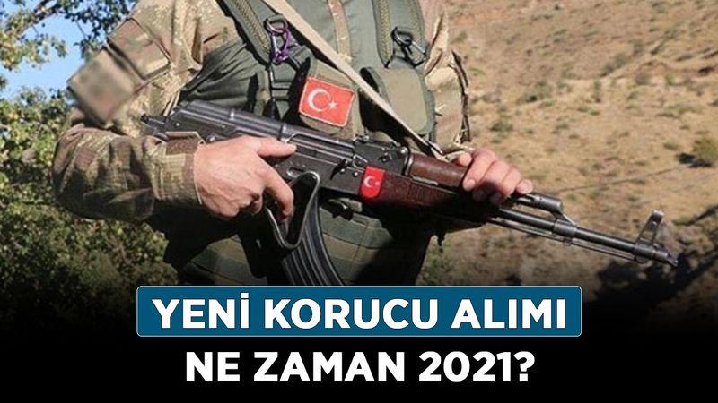 2021 korucu alımı var mı? Yeni korucu alımı ne zaman 2021?