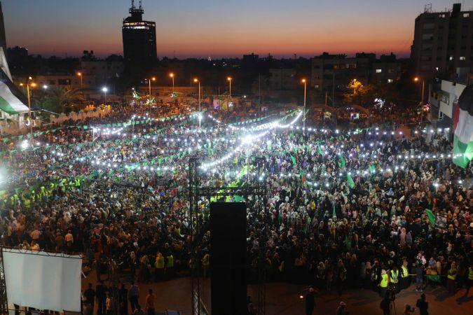 Filistinliler için Han Yunus şehrinde anma etkinliği düzenlendi