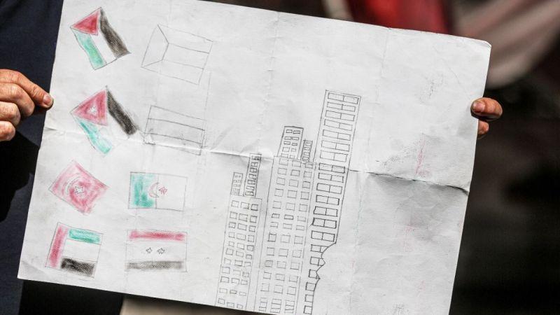 Filistinli kız çizdiği son resimde Türk bayrağına da yer vermiş