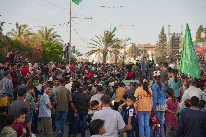 Hamas Hareketi, Gazze'de zafer kutlamaları düzenledi