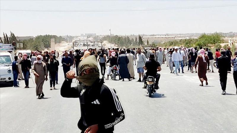 Terör örgütü YPG/PKK'nın Münbiç'te göstericilere açtığı ateş sonucu 8 sivil öldü