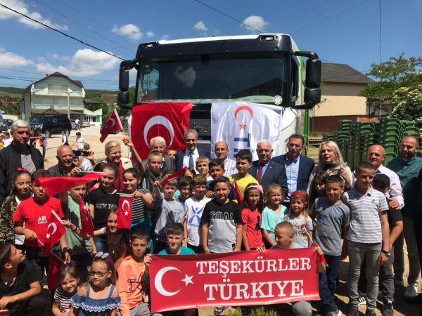 TİKA'dan Sırbistan'da Türk ailelerin yaşadığı köye yardım