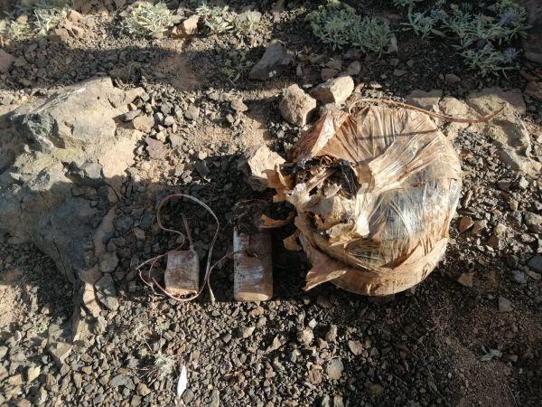 Şemdinli'de terör örgütü PKK'ya yönelik operasyonda ele geçirilen patlayıcı imha edildi