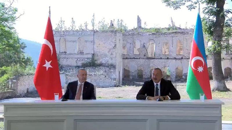 Erdoğan ve Aliyev Şuşa Beyannamesini imzaladı
